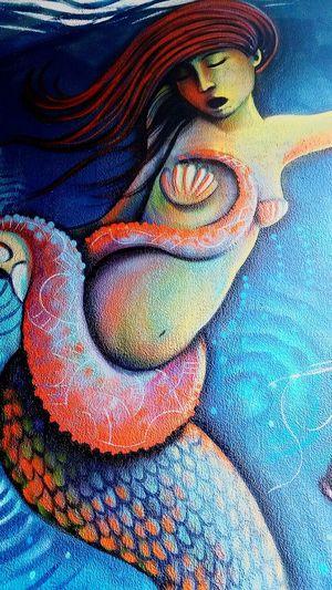 Mermaid Art Graffiti Shells Old Sac Sea