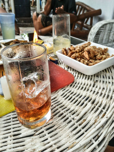 Ice Icecold Whiskey Glass Rattan