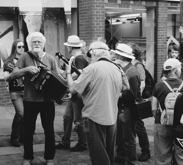 Street Photography Blackandwhite Photography Miners Durham City Miners Gala Music Brass Band