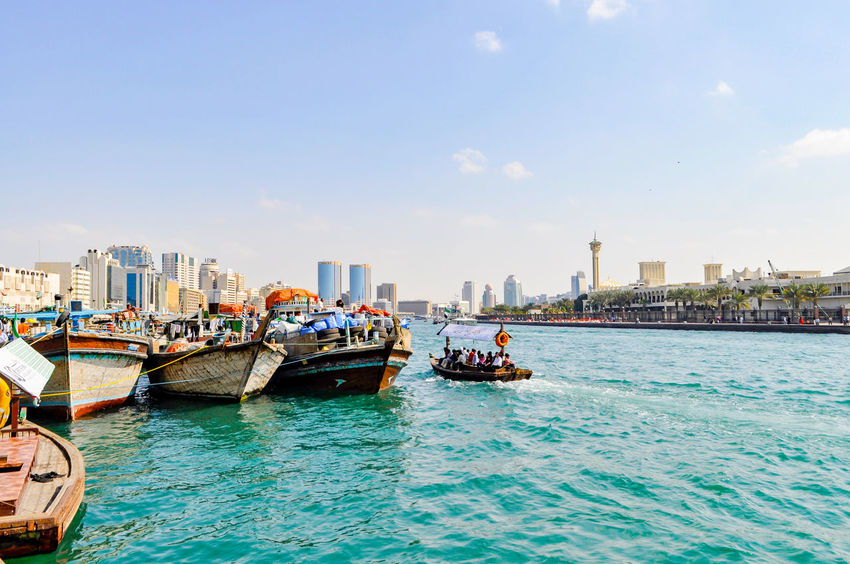 Architecture Building Exterior Business Finance And Industry City Cityscape Clear Sky Day Mode Of Transport Nautical Vessel No People Outdoors Pedal Boat Sailing Sky Transportation Urban Skyline Water