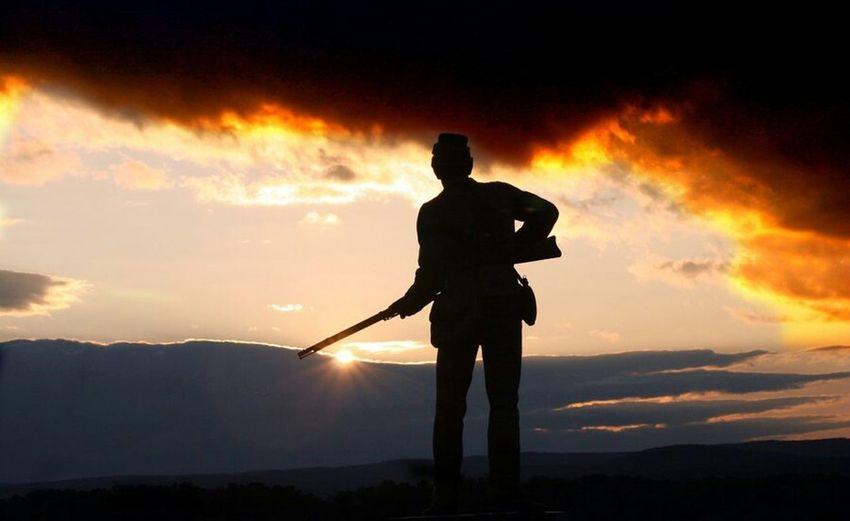 gettysburg statue Sunset Gettysburg Pennsylvania Battlefield Finding New Frontiers