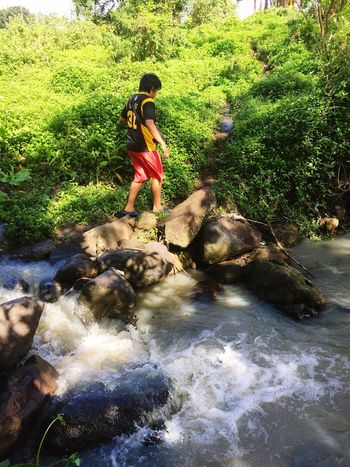 Crossing the border River Outdoors One Person Eyeem Philippines Beauty In Nature