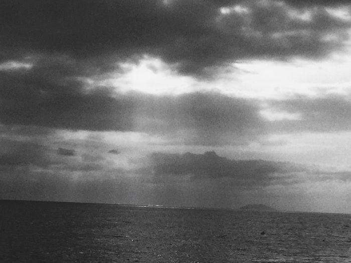 Black & White Sunset Silhouettes Rain Sunset Caribbean Puerto Rico Rincon Desecheo