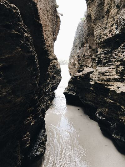 Rock Formation Rock - Object Nature Scenics Physical Geography No People Travel Destinations River Tranquility Beauty In Nature Day Cliff Water Outdoors Waterfall Sky