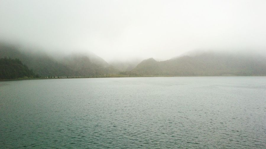 Fog Landscape Weather Nature Outdoors Wet Winter Scenics Beauty In Nature No People Day Lagoa Do Fogo