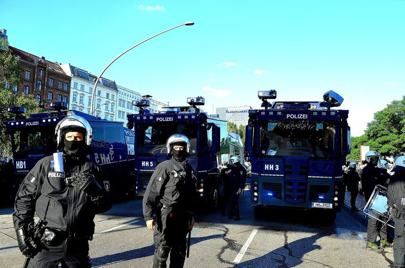 G20 Gipfel G20 Summit G20 Meeting Hafenstraße Hamburg G20 Hamburg G20 Sternschanze Gun Headwear Helmet Large Group Of People Military Police Force Police Uniform Protection Riot Riot Gear Riot Police Riots Weapon Welcome To Hell