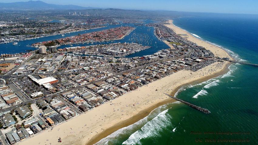 Aerial Photography Aerialphotography Beach Bars Boating Busy Beach Drone Oc Ethan Castanon Newport Beach Newport Harbor Newport Peninsu Ocean Height Ocean View Pacific Ocean