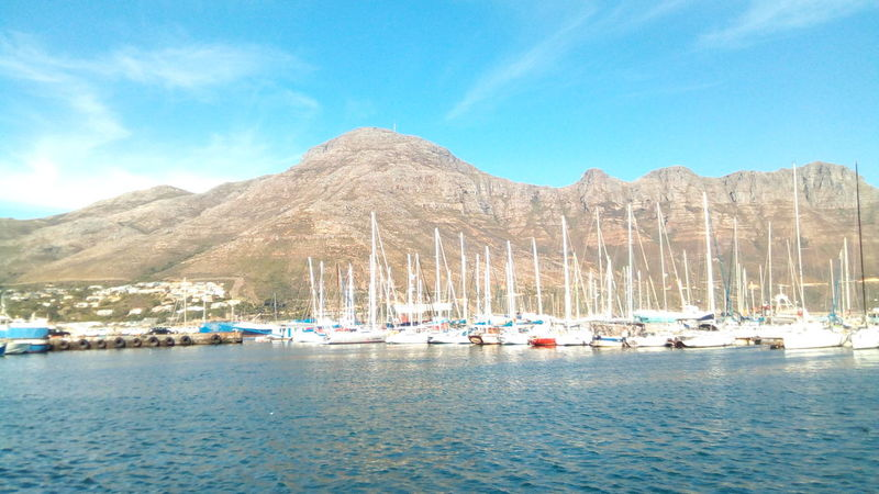 Quite harbor Mountain Water Blue Outdoors Scenics Day Nature Nautical Vessel Travel Destinations Harbor Sea Beauty In Nature