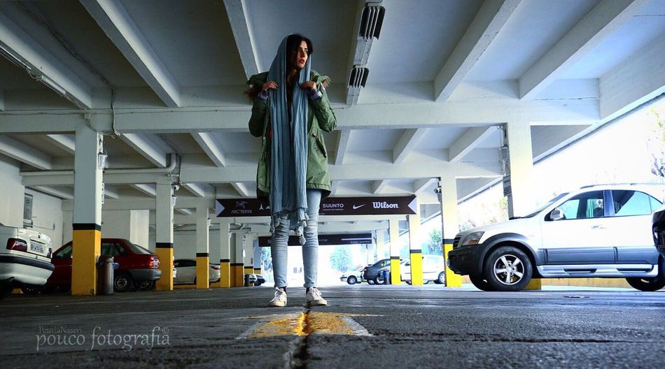 Hello World Arrow Symbol Parking Lot Persian Girl Tehran, Iran PouriaNaseri© PoucoFotografia©