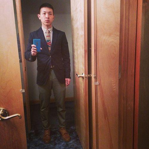 3 weddings in 4 weeks. Outfit 1. Ootd Menswear Americanapparel Merona colehaan