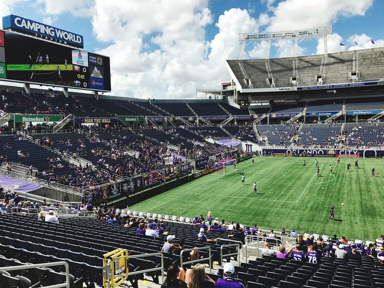 Game Day Orlando City Soccer Large Group Of People Stadium