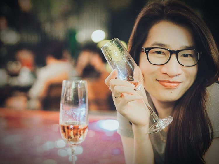 hang out Party Night Life Happy People Happy Girl  Hang Out Girl Smiling Champagne Woman Portrait Asian Girl Adult Only Women Drink Drinking Glass Alcohol Eyeglasses  One Person One Woman Only Drinking Adults Only Wine Young Adult Wineglass Beautiful Woman People Elégance Beauty Beautiful People One Young Woman Only Close-up