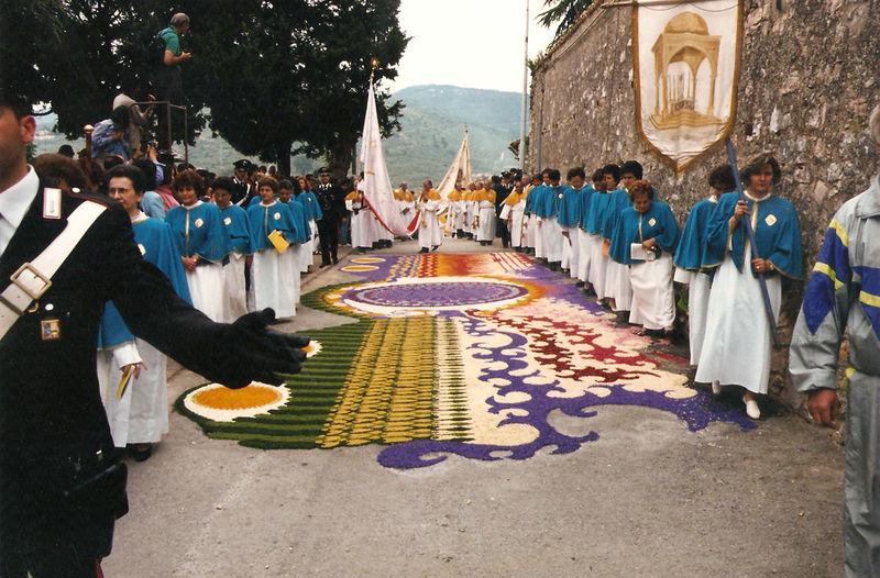 Cultures Decoration Flowers Infiorate Petals Religious Art Tourism Traditional Culture