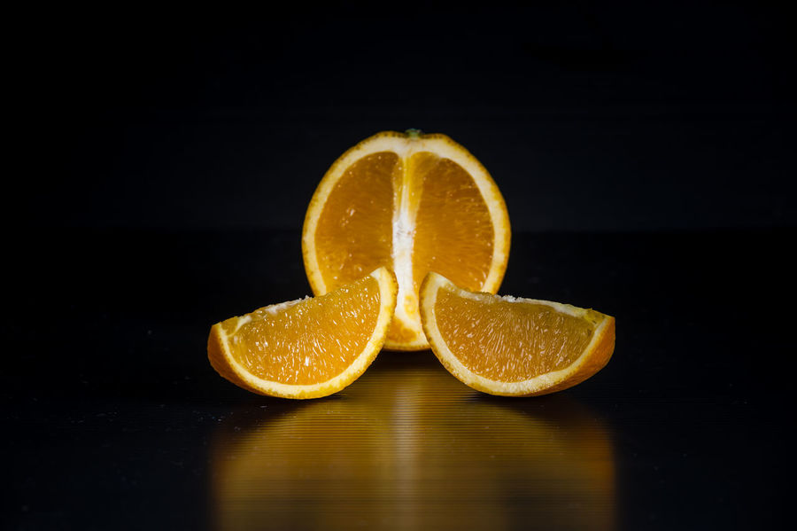 Black Background Food Food And Beverages Fresh Fresh Oranges Fruits Healthy Food Juice Juicy Oranges Oranges Product Reflections Slices Still Life Sweet And Juicy