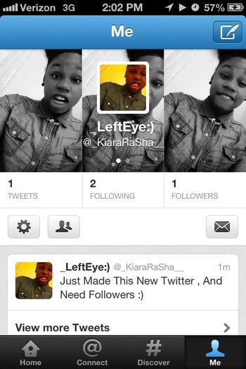 Aye✋What You Doing And Go Follow My New Twitter Page :) Thanks .