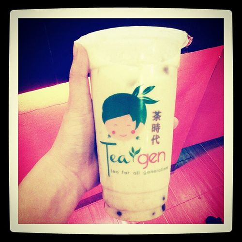 Milktea fix! Happy kid! ? ❤