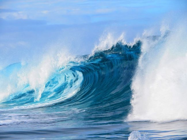 Power In Nature Sea Wave Crash Blue Motion A New Beginning