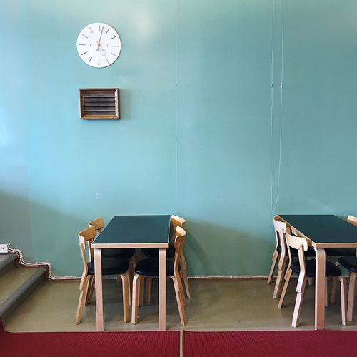 Chairs and table at restaurant
