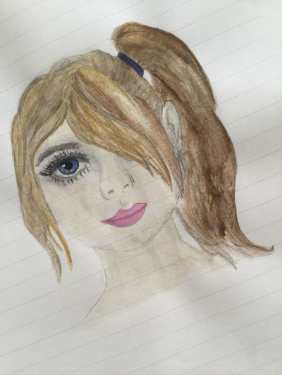 Human Face Aquarelle Drawing Dessin France
