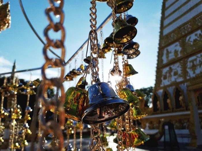 วัดหนองบัว Buddhist Place Golden Golden Hour Golden Gate Bridge Golden Retriever Bell Bell Tower Bell Pepper Bella Italia Belly Measure Measurement Measurements Measure Tape Measure, Measurements Christmas Decoration Hanging Christmas Ornament Tradition Close-up Sky