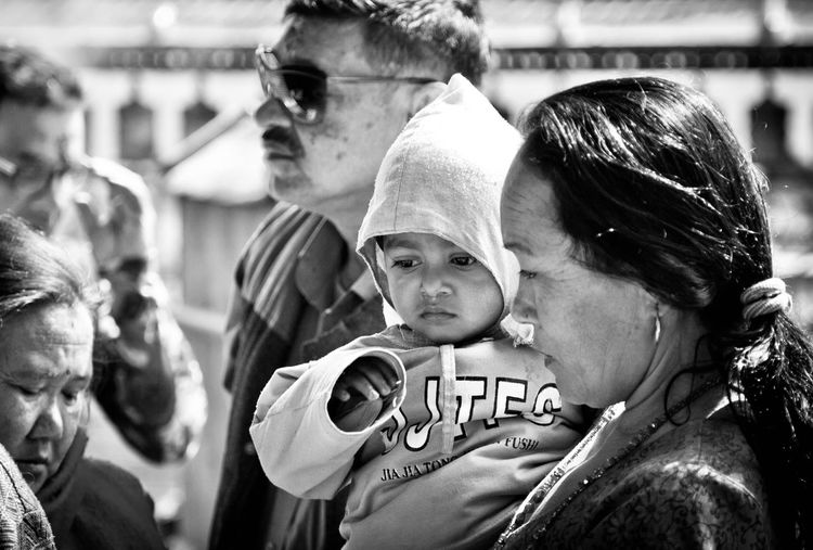 Black & White Blackandwhite Childhood Child Group Of People Family Togetherness Portrait Offspring Women Headshot Adult People Females Day Focus On Foreground Real People Parent Bonding Daughter Human Connection International Women's Day 2019 Moms & Dads