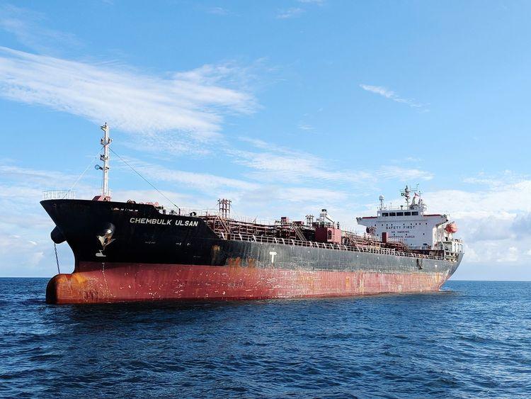 Nautical Theme Nautical Vessel Cargo Ship Life Onboard Water Nautical Vessel Sea Blue Wave Sky Shipping  Freight Transportation Ship Industrial Ship