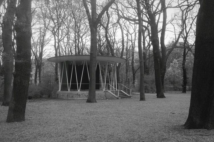 Nice fifties feeling in the parks Bandstand Fifties Black And White Architecture Trees Park Brunswick Braunschweig