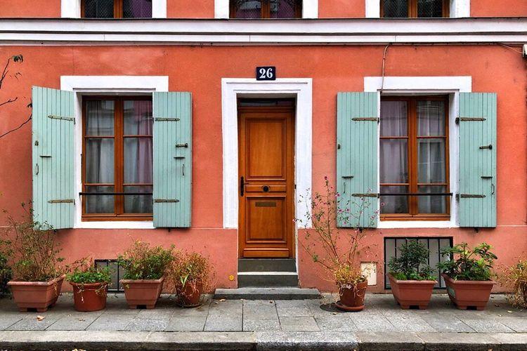 Streets Of Paris Pretty Street Rue Crémieux Building Exterior Architecture Built Structure Building Window Door Entrance