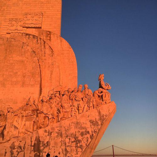 Padrão dos Descobrimentos ao por do sol! Descobrir 2015. Historical Sights Hugo Alexandre Cruz Padrão Dos Descobrimentos 2015  Lisboa Lisbon Portugal First Eyeem Photo