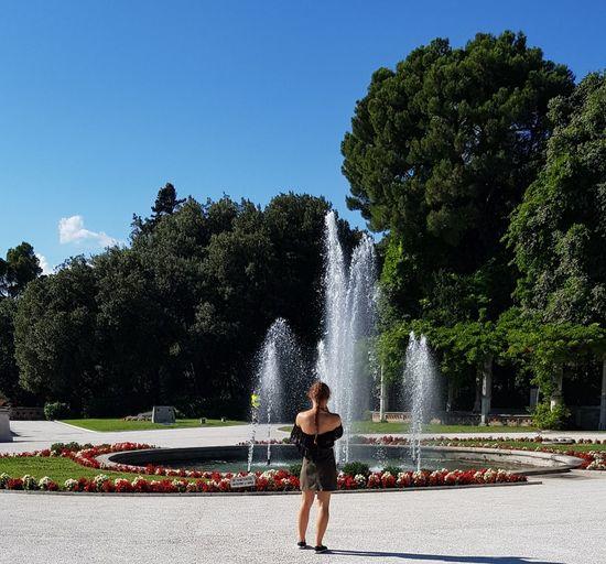 Tree Spraying Motion Happiness Long Exposure Fun Splashing Full Length Water Park