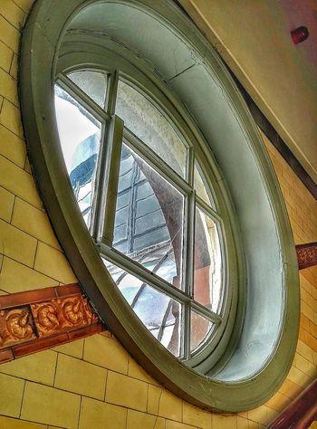 Window Tiles Through The Round Window