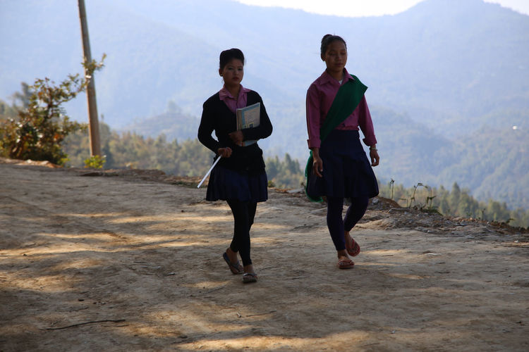 Children On The Way To School Chidren On The Way Home Children Children Of The World Childhood Nepal Bandipur School Uniforms Around The World