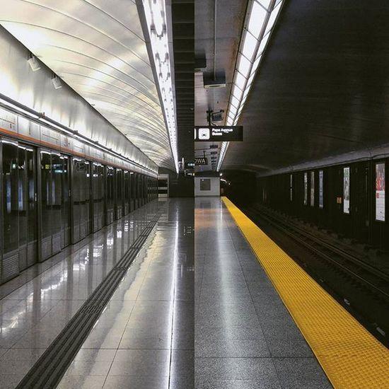 Hong Kong Kowloon Station X Toronto Pape Station HongKong MTR Toronto Ttc TTCzone Subway Transit