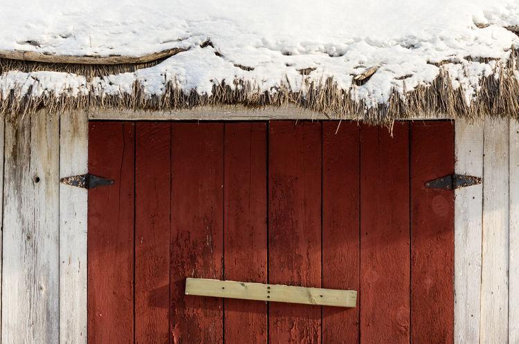 Doors Door Doors Locked Old Buildings Quebec Snow Thatch Thatched Roof Wall Winter