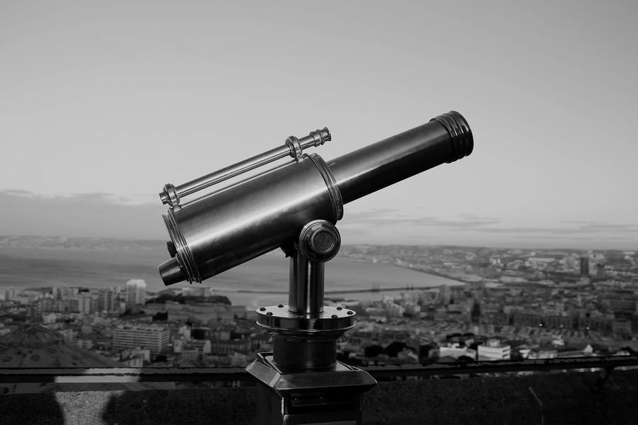 Telescope Discovery Coin-operated Binoculars No People Hand-held Telescope City Travel Destinations Sunset Clear Sky Sky Cityscape Astronomy Water Scenics Astronomy Telescope Technology Close-up Outdoors Bnw_lover Monochrome World Bnw_of_our_world Monochrome Photograhy Modern Marseille Sky Photography
