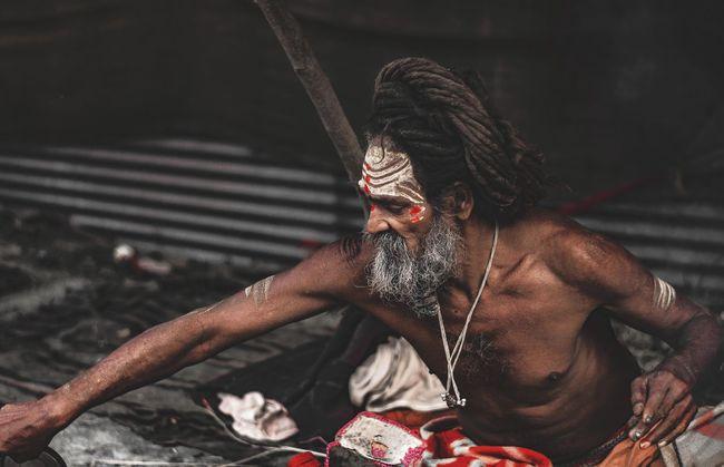 Baba Devotional Indian Ocean Naga Spritual Journey In Bloom Lifestyles Naga Baba Shadhu Shirtless Spritualism Young Adult