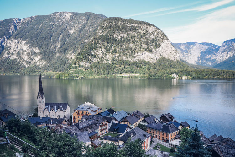 Picturesque village of hallstatt and its adjacent lake is the largest tourist attraction in austria