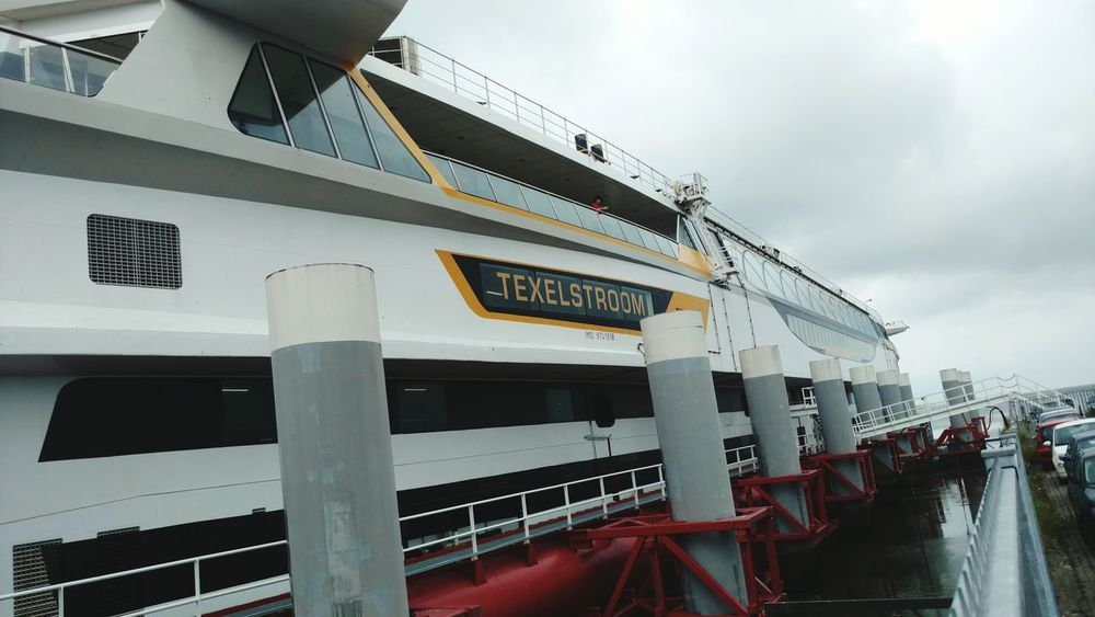 Texel Ferry Ship Rainy Days Railing Sky And Clouds EyeEmNewHere EyeEm Selects Transformation Ferry Port Outdoors Sky Day Denhelder