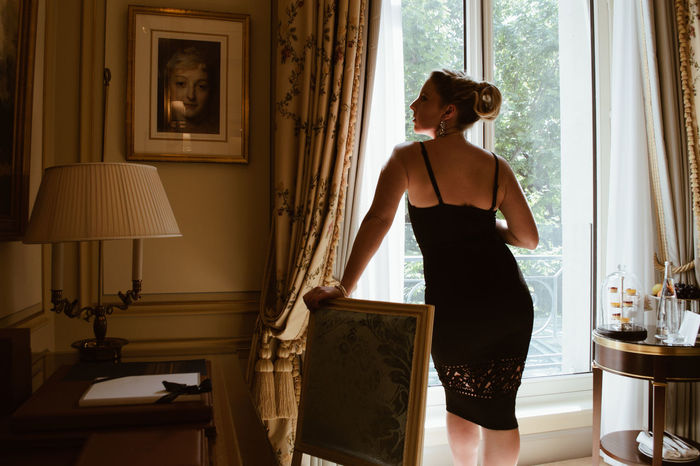 Woman in the Ritz, Paris Classic Elégance Luxury Hotel Luxury Travel The Ritz Carlton Travel Traveling Beautiful Woman Bedroom Classy Europe Expensive Home Interior Hotel Indoors  Interior Interior Design Lifestyles Luxury Luxury Life Ritz Standing Travel Destinations Window Young Women
