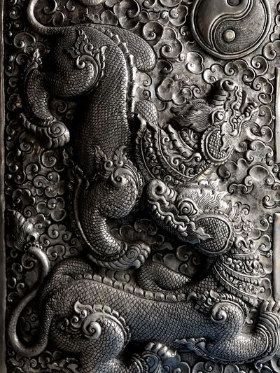 Backgrounds Pattern Full Frame Close-up No People Indoors  Day Silver  Art Cuture Craft EyeEmNewHere The Week On EyeEm Temple Chiang Mai | Thailand Handcraft Wall Wall Art