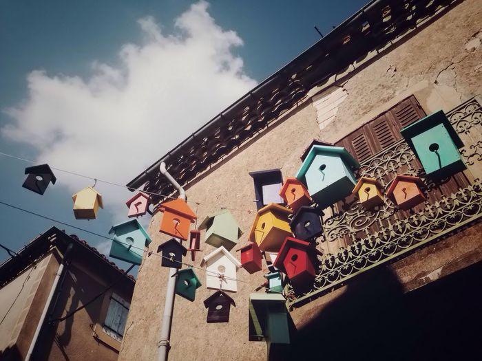 Flying houses IPhone Hollidays Summer Montolieu Street Photography Sky LandArt