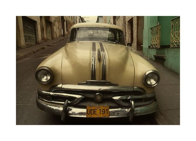 Car Cuba, Front Side, Land Vehicle Oldtimer, Street Photography Transportation Transportation,