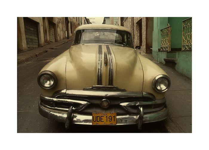 Car Cuba, Front Side, Land Vehicle Oldtimer, Street Photography Transportation Transportation,