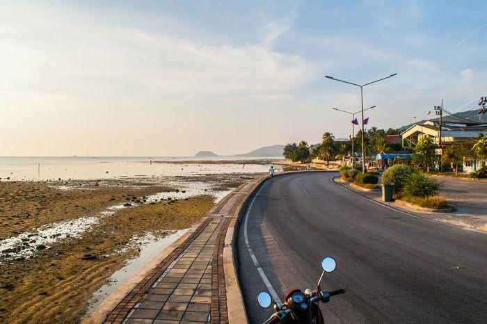 Beach Naton Road Samui Samui_thailand Sea Sky Thailand