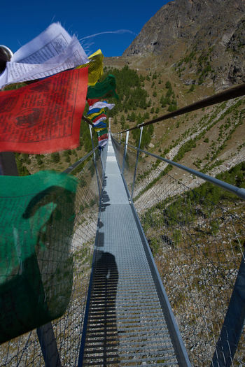 Footbridge over mountain