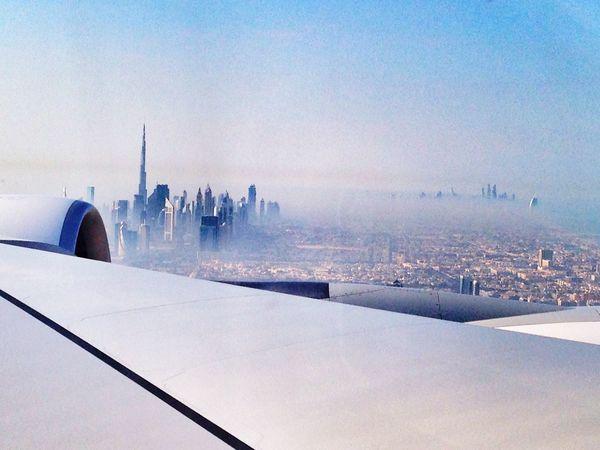 Dubai Flight Sight Sky Over Dubai Flight Wings Take Off