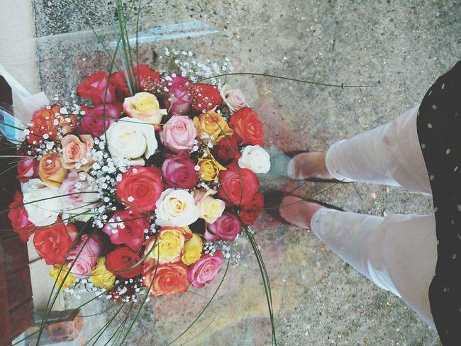Flowers Roses Selfie Paris