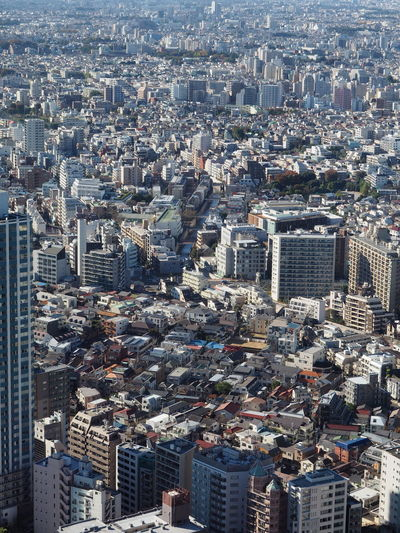 Aerial View Architecture Building Exterior City City Planning Cityscape Crowded Day Development Futuristic Nightmare Outdoors Skyscraper Tokyo Travel Destinations Urbanism Urbanization
