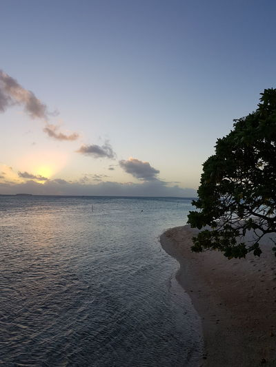 Sunset Sea Water Nature Landscape Beauty In Nature No People Travel Destinations Tranquility Beach Cloud - Sky Tropical Climate Tourism Idyllic Tranquil Scene Coucher De Soleil Vacations French Polynesia Island Reflection Tikehau