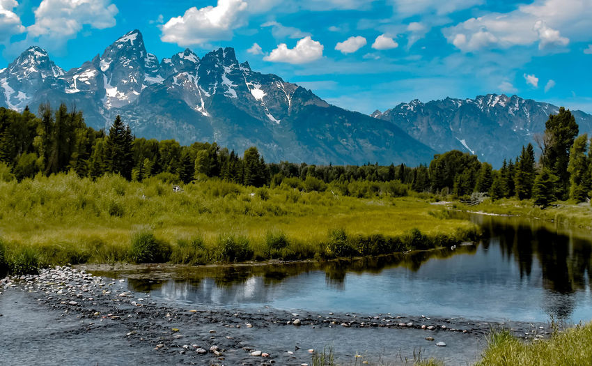 Teton Mountains Water Mountain Beauty In Nature Scenics - Nature Tranquil Scene Tree Sky Tranquility Cloud - Sky Nature Mountain Range Non-urban Scene Environment No People Day Lake Outdoors Rocks Rocks And Water Tetons Landscape Nature Stream Blue Green Backgrounds Landscape_Collection Nature_collection Nature Photography Cloud Summer Wyoming Landscape Snowcapped Mountain Reflection Reflections In The Water Reflections Pebble Rock - Object Pine Tree Flowing Water Destination Travel Destinations Hiking Adventure Hideout Relaxing Nature On Your Doorstep Naturelovers Beauty In Nature Photography Mountains Mountain View